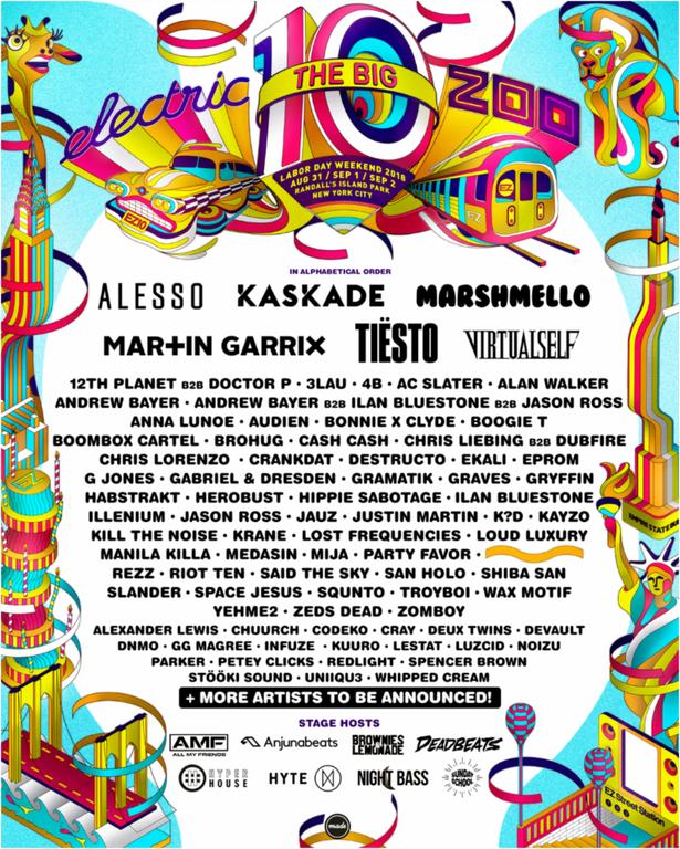 electric zoo 2018 lineup