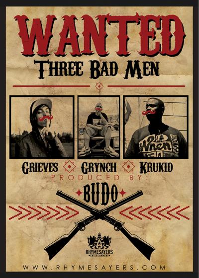 Grieves ft. Grynch & Krukid (Prod. By Budo) - Three Bad Men: Sick Chill New Hip-Hop