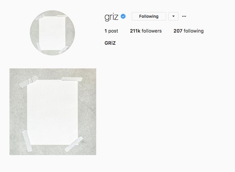 Griz clears instagram