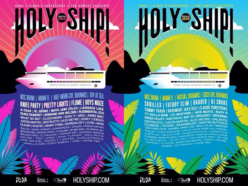 Holy Ship 2015 Drops Stunning Lineups Featuring Skrillex