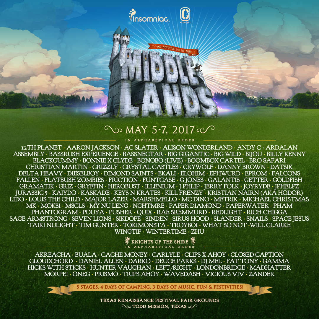 Middle Lands 2017 lineup