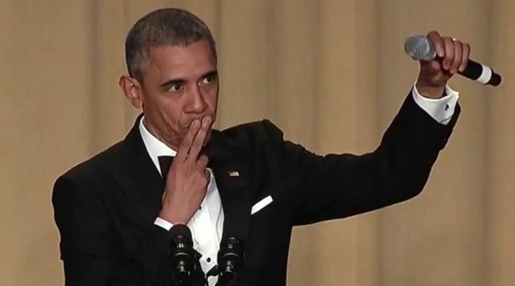Obama Mic Drop