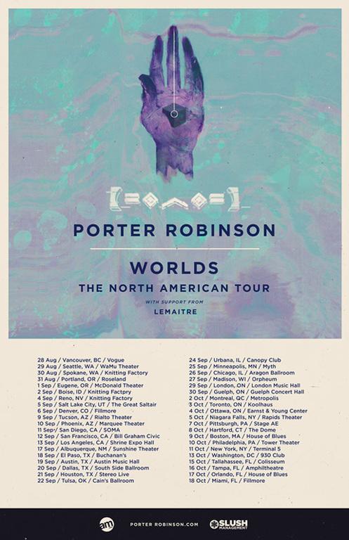 """Porter Robinson Announces Massive North American """"Worlds Tour"""""""