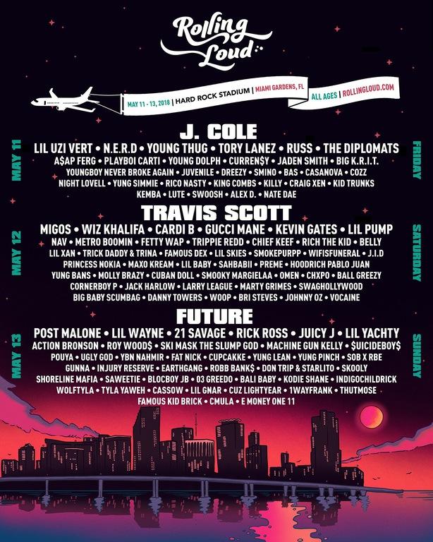 Rolling Loud Festival Lineup 2018