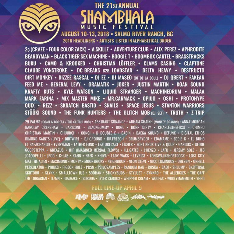shambala lineup 2018