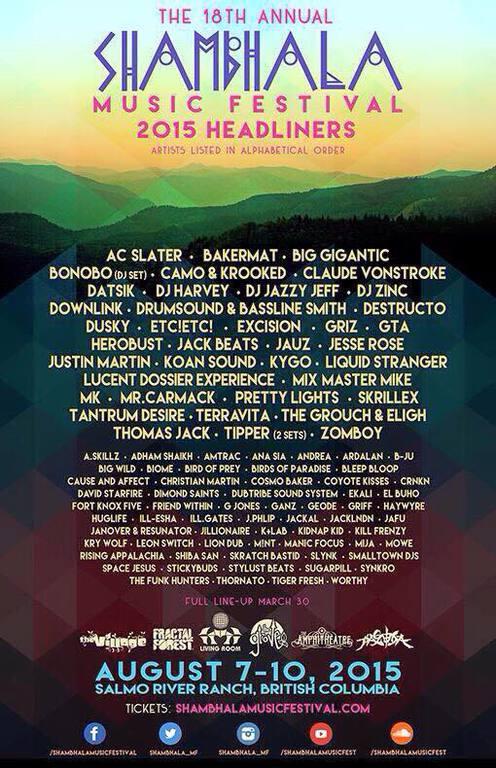 Shambhala Music Festival Announces Game Changing Lineup Featuring Skrillex