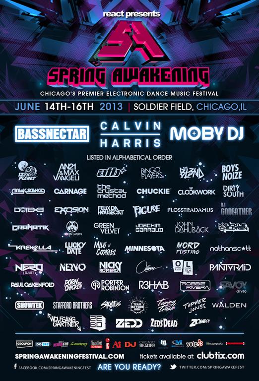 Spring Awakening Music Festival 2013 Full Lineup: Including Nero