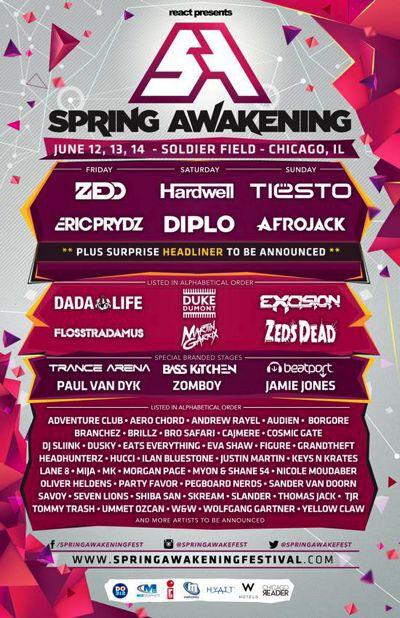 Spring Awakening Music Festival Announces Huge 2015 Lineup Ft. Zedd