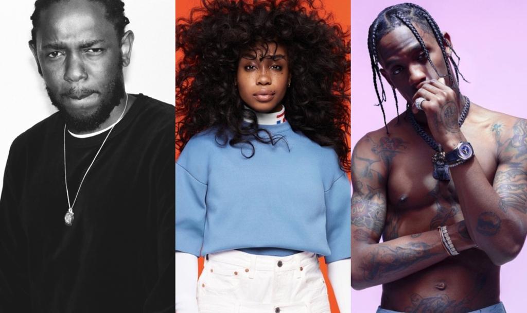 SZA Kendrick Lamar Travis Scott