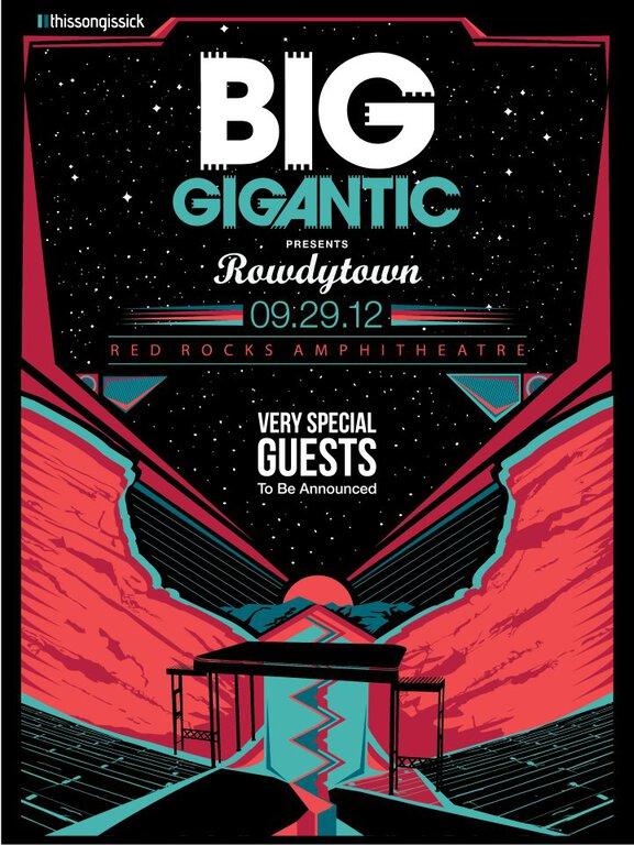Thissongissick and Big Gigantic Present Rowdytown: Big Gigantic headlining Red Rocks September 29th