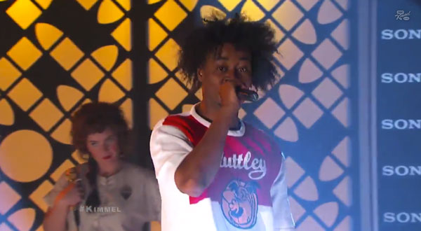 """[VIDEO] Danny Brown Makes TV Debut Performing """"25 Bucks"""" with Purity Ring on Jimmy Kimmel Live"""