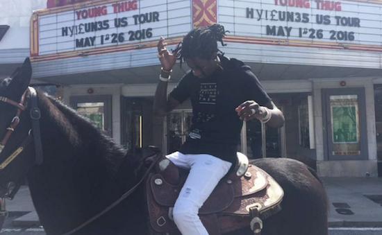 [VIDEO] Young Thug Is Riding A Horse Through Atlanta To Announce His New Tour