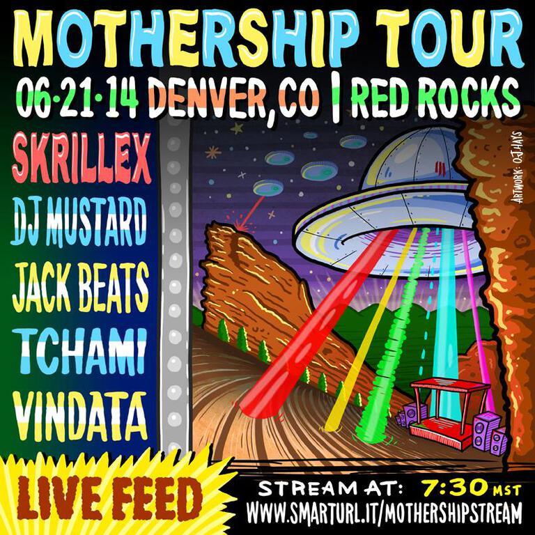 Watch Skrillex Headline First Ever Headline Set Red Rocks In Full via Live Stream