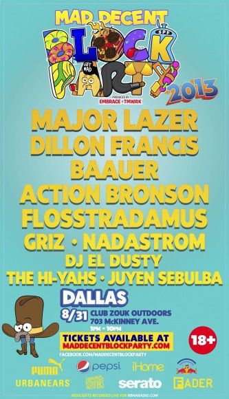 Win Red Carpet VIP Experience to Mad Decent Block Party