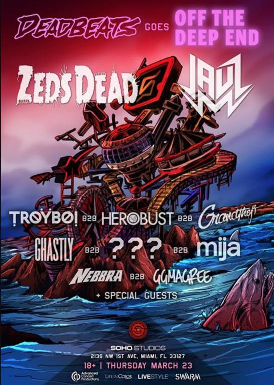 Zeds Dead Jauz Miami Party