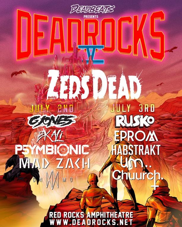 Zeds Dead red rocks 2018