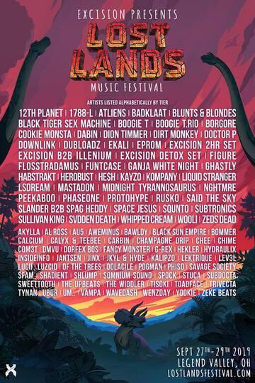 Lost Lands 2019 Lineup