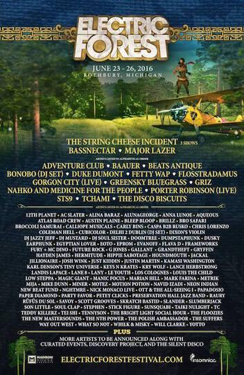 EF 2016 lineup poster