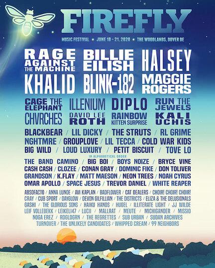 Firefly 2020 lineup 2