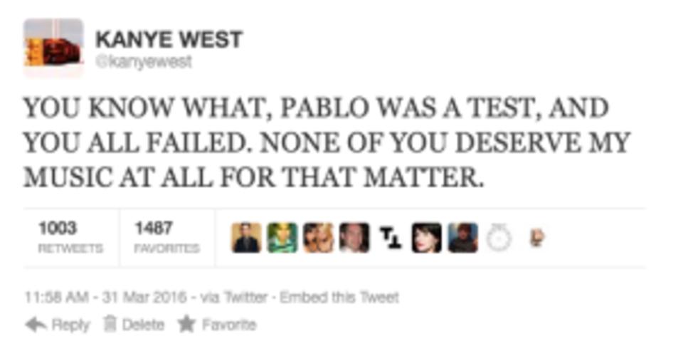 Kany West rant tweet 9