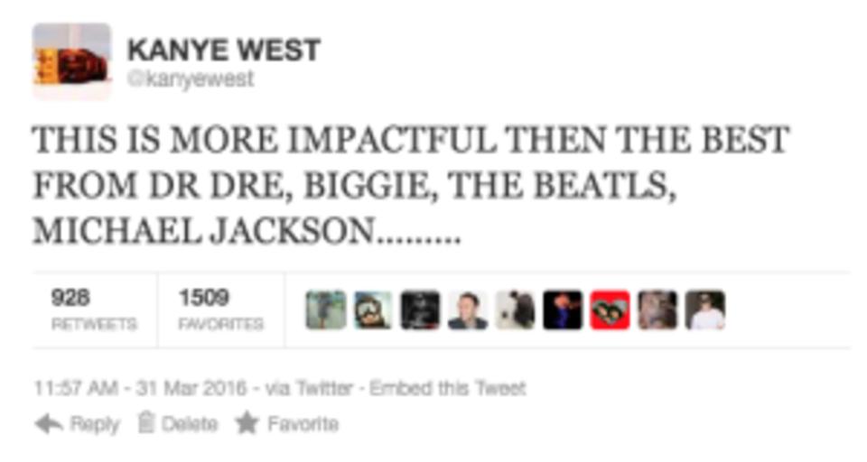 Kanye West rant tweet 4