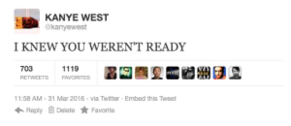 Kanye West rant tweet 6