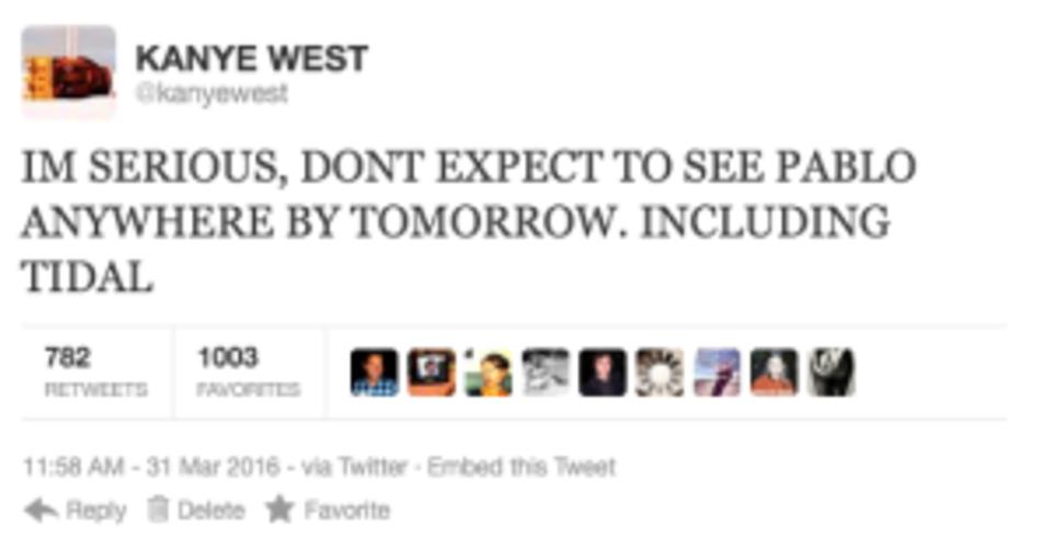 Kanye West rant tweet 8