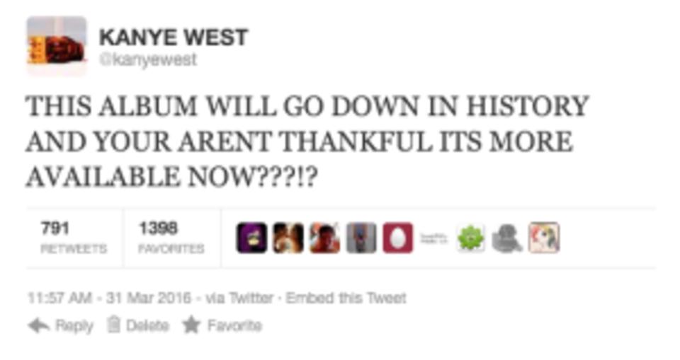 Kanye west rant tweet 3