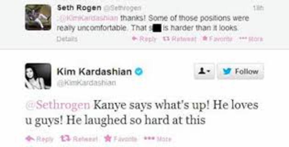 Kim: Seth Approval Tweets