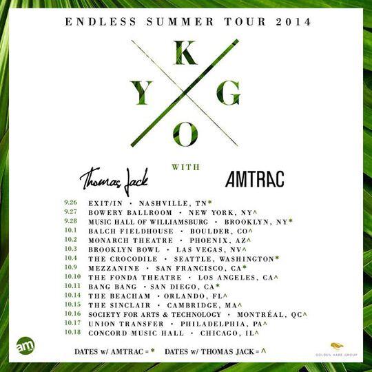 Kygo Endless Summer Tour 2014 Part 1