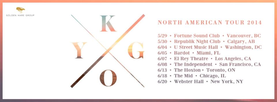 Kygo North American Tour  2014