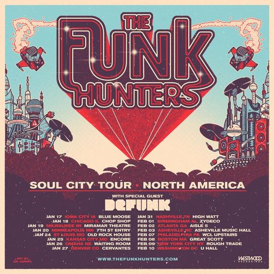 The Funk Hunters tour 2018