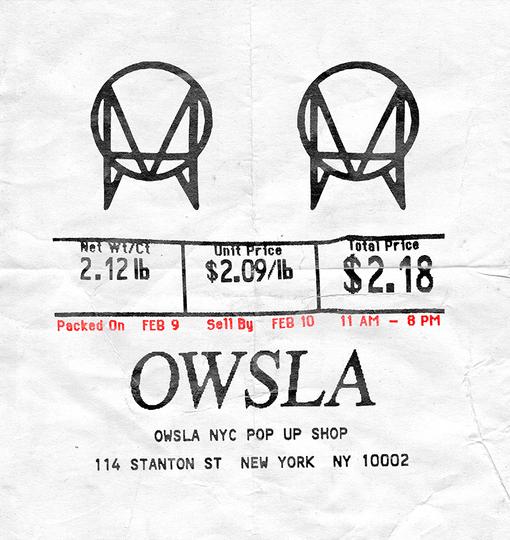 owsla pop up shop
