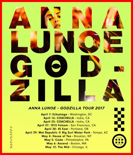 Anna Lunoe Godzilla Tour