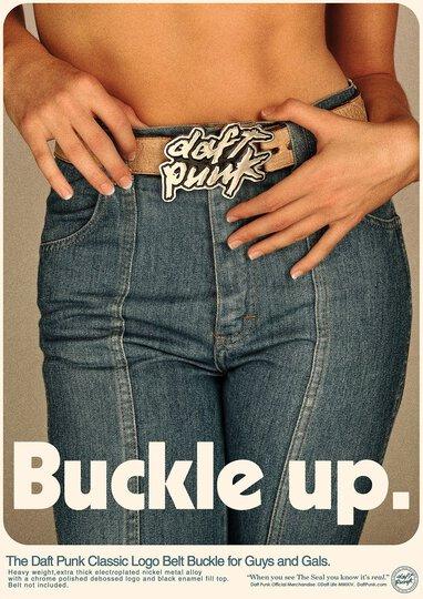 Daft Punk Belt Buckle