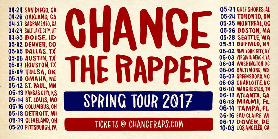 Chance Spring Tour 2017