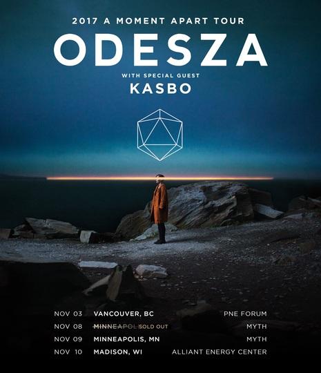 Kasbo ODESZA Dates