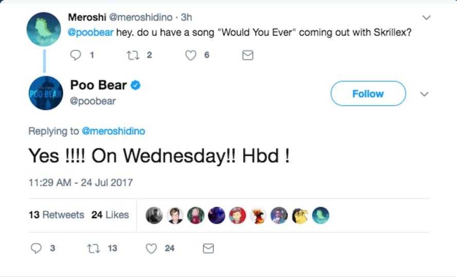 Poo Bear Skrillex