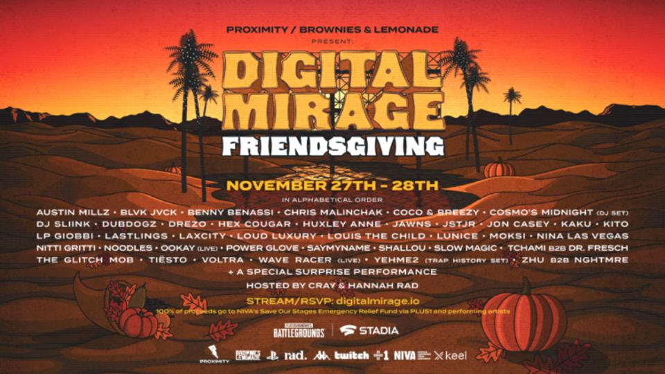 digital mirage friendsgiving