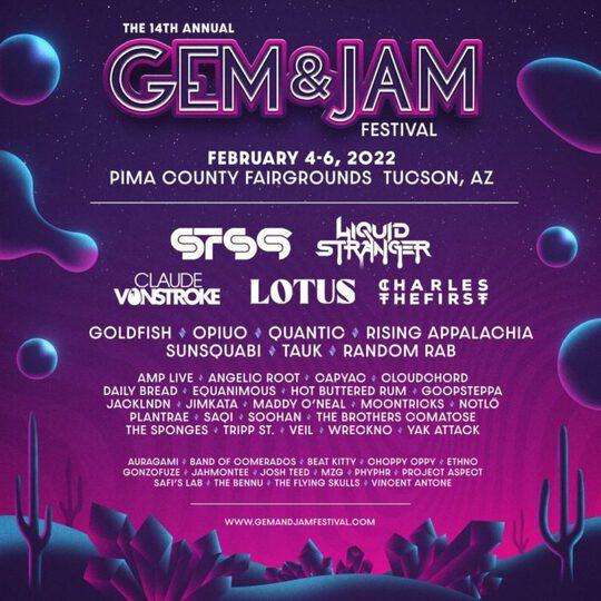 Gem & Jam 2022 Lineup Flier This Song Is Sick