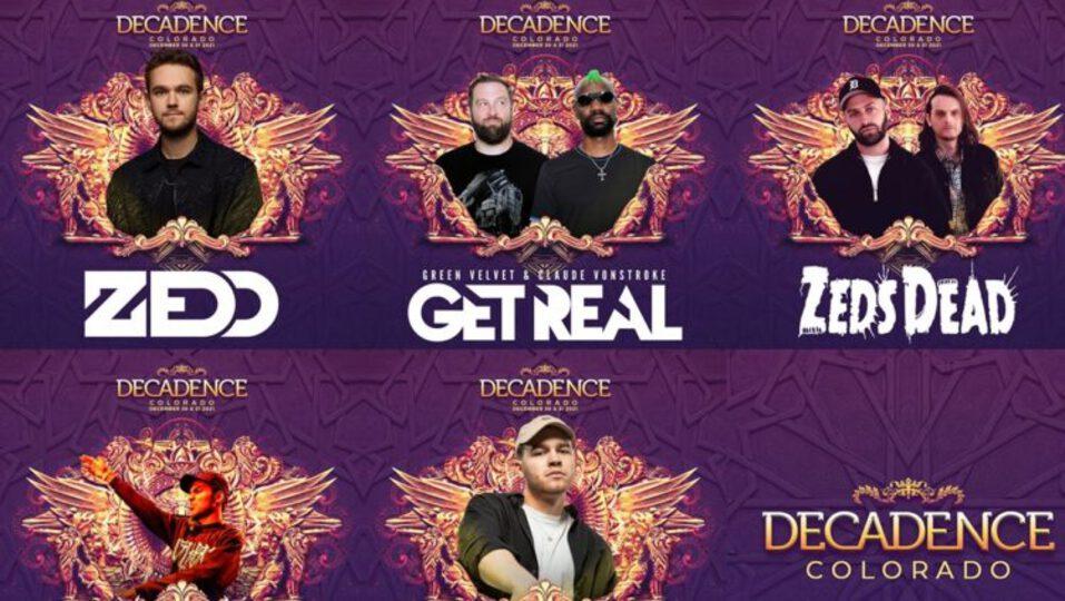 decadence 2021 lineup
